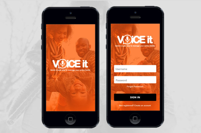 Voice it app mobile banner