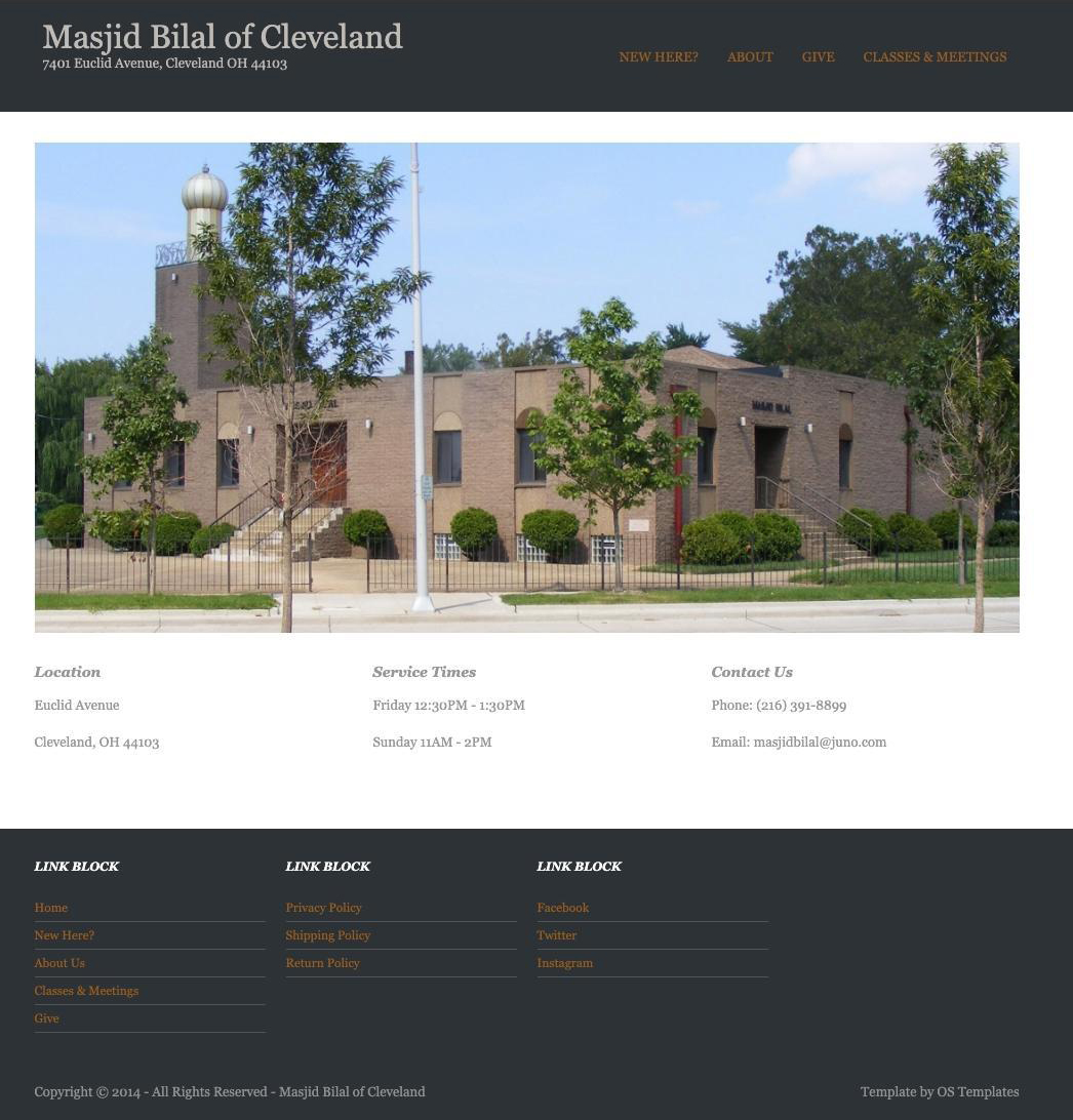 Masjid Bilal of Cleveland Old Website